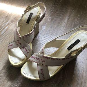 Louis Vuitton wedge sandal. Size 37.5